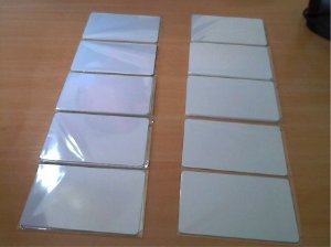 Cartão ISO RFID MIFARE 1K S50 13.56MHz PARA ARDUINO OU PIC - KIT COM 10 UNIDADES