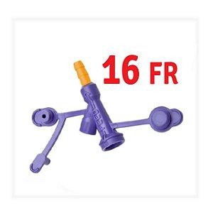 Adaptador para extensor e sonda de gastrostomia Tipo BOTTON KANGAROO - 16FR