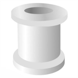 Tubo de Ventilação 1011SH teflon sem haste aço (Shepard) - Medicone