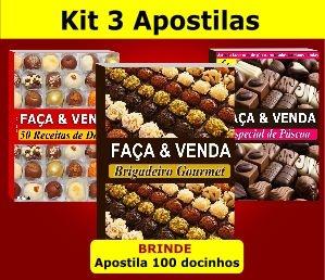 Kit 3 Apostilas - Doces, Brigadeiros e Páscoa (e-Book)