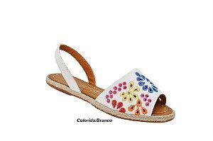 Sandalia Avarca Becc boo colorido branco