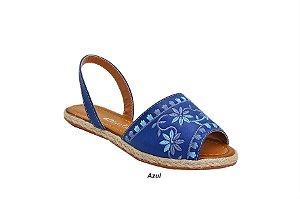 Sandália Avarca azul com bordado floral 6 pares no : : Atacado : :