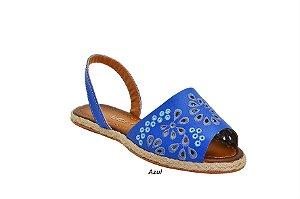 Sandália a Laser Azul com Bordado sendo a caixa com 6 pares no : : Atacado : :