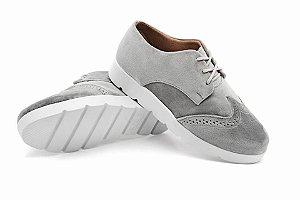 Sapato Becc Boo Oxford Feminino Cinza