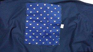 Wrap Sling SlingaBaby Azul Marinho com Coroas
