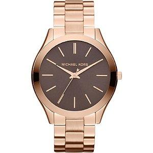 Relógio Michael Kors Mk3181 Rosê com Fundo Marrom 0bca6632fc