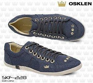 54c7516c371 Sapatênis Osklen Lona Jeans Original Feminino skf-228