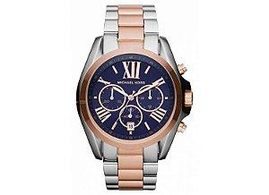 50410084186 Relógio Michael Kors Mk3380 Quartz Prata e Rosa