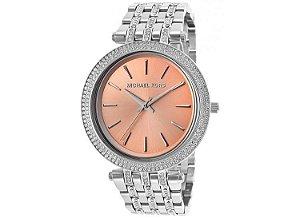 0743776933f Relógio de Luxo Michael Kors Mk6291 dourado com cristais azul - Dalu ...