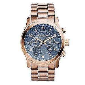 96f56806bbb Relógio Michael Kors Mk8358 Rose com Azul Jeans