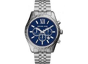 d877e8e8faa Relógio de Luxo Michael Kors Mk 8280 Chron Anal Prata Imaculad