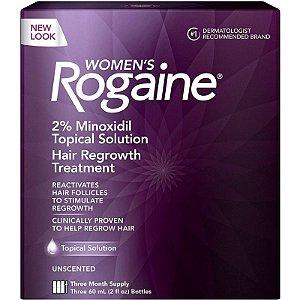 Rogaine Tratamento Feminino 2% Minoxidil - 3 Meses