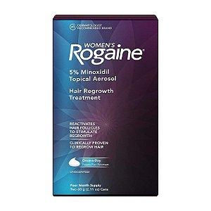 Rogaine Tratamento Feminino Minoxidil 5% Espuma - 4 Meses