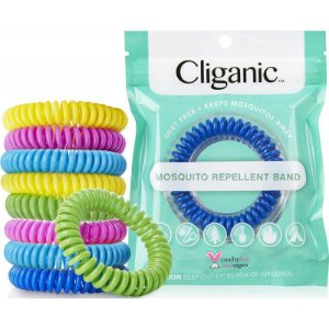 Cliganic Braceletes Repelente de Mosquito - 10 Unid.