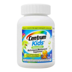 Centrum Kids Chewable Multivitamin - 80 Comprimidos