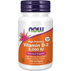 Now High Potency Vitamin D-3 5,000 IU - 240 Softgels