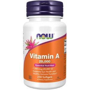 Now Vitamin A 25,00 Essential Nutrition - 250 Softgels