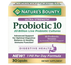 Nature's Bounty Ultra Strength Probiotic 10 - 30 Capsules