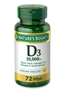 Nature's Bounty Vitamin D3 10,000 IU - 72 Softgels