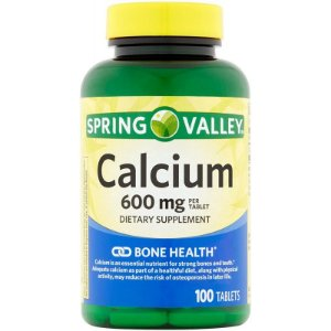 Spring Valley Calcium 600 mg - 100 Tablets