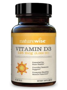 Naturewise Vitamin D3 125 mcg 5.000 IU - 90 Softgels
