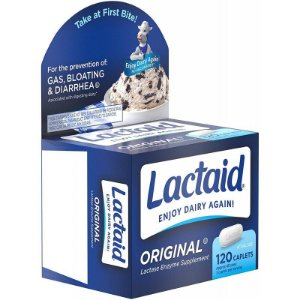 Lactaid Original Lactose Enzyme Supplement - 120 Caplets