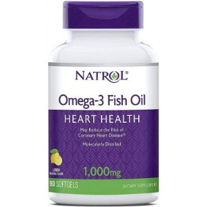 Natrol Omega-3 1,000mg Fish Oil - 90 Softgels