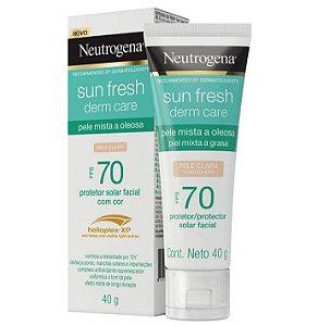 Neutrogena Sun Fresh Oily Skin Com Cor FPS 70