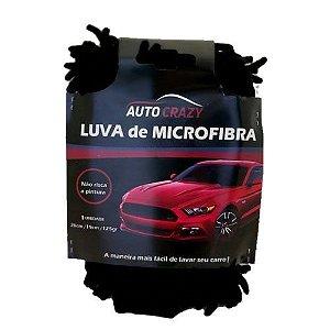 Luva de Microfibra Black - Auto Crazy