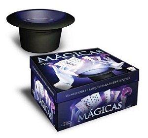 Caixa de Mágicas Infantil com Cartola e 30 Truques