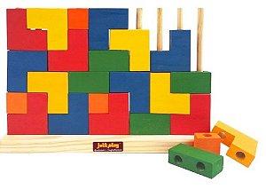 Blocos de Encaixe Tetris Vertical Didático Pedagógico