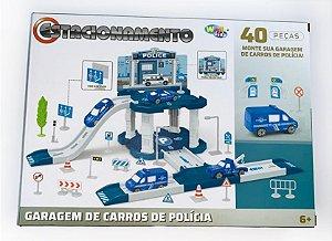 Estacionamento e Garagem Completo Polícia Infantil Kids