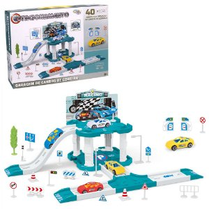 Estacionamento e Garagem Completo Corrida Infantil Kids