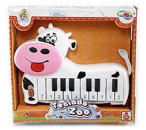 Teclado Piano Musical Vaquinha Zoo Animais Infantil