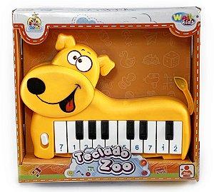 Teclado Piano Musical Cachorro Zoo Animais Infantil