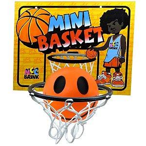 Mini Jogo Basket Cesta e Bolinha Smile Infantil Esporte