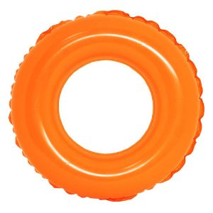 Boia de Cintura Infantil Colors Laranja 60 cm Praia Piscina Pool Party