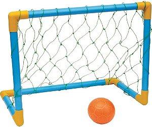 Kit Golzinho Trave e Bola Diversão c/ Amigos Infantil Kids Futebol