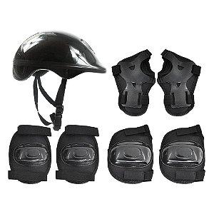 Proteção Completa Capacete + Joelheiras + Munhequeiras Infantil