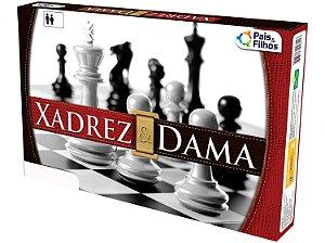 Jogo de Tabuleiro Xadrez e Dama Estratégia e Diversão em Dose Dupla