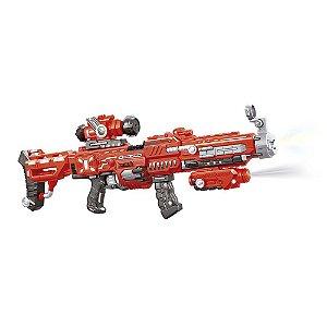 Metralhadora Super Shot Power A Pilhas Nerf Brinquedo Policial