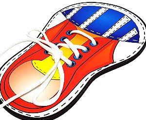 Divertilaço Brinquedo Educativo Amarrar Tênis e Sapato