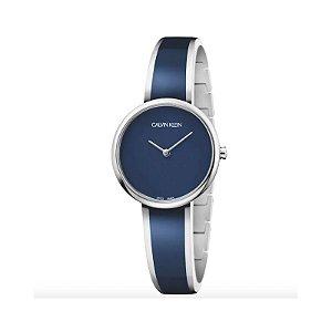 Relógio Calvin Klein Feminino Aço Azul - K4E2N11N