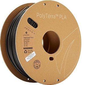 Filamento PLA Charcoal Black 2,85mm 1Kg Polyterra