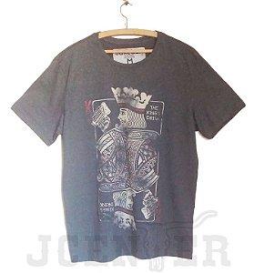 Camiseta masculina Rei Baralho