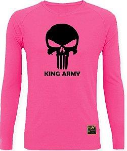CAMISETA STYLE KING BRASIL - ARMY ROSA/PRETO