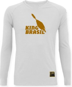 CAMISETA STYLE KING BRASIL - BOIA BRANCA/DOURADO