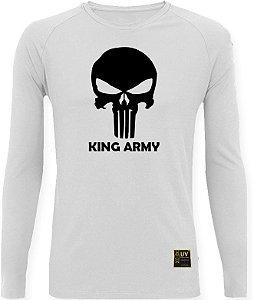 CAMISETA STYLE KING BRASIL - ARMY BRANCA/PRETO