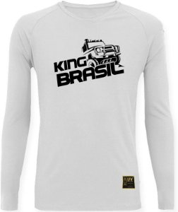 CAMISETA STYLE KING BRASIL - OFF ROAD BRANCA/PRETO