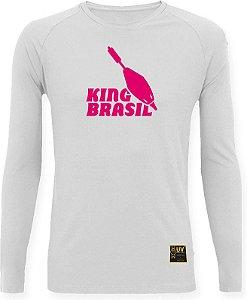 CAMISETA STYLE KING BRASIL - BOIA BRANCO/ROSA